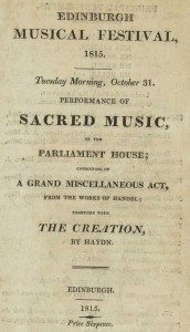 Title-page of programme