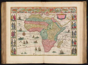 Map of Africa from Blaeu Atlas