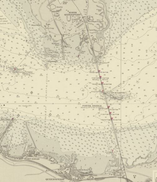 "This extract from Admiralty Chart: ""River Forth - Port Edgar to Carron River"". Chart 114c (1963). DOD ID: 101942720"