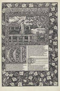 Kelmscott Chaucer title page