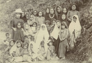 Girls' school, Kalimpong, India, ca.1920