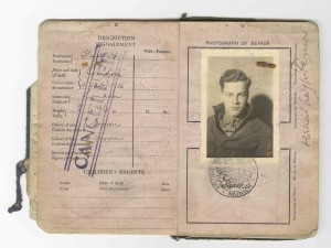 Patrick Leigh Fermor's replacement passport, issued in Munich 1934