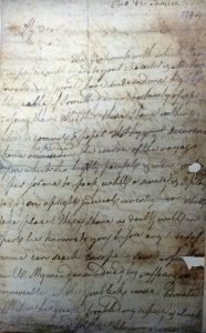 letter of Thomas Muir sent from Rio