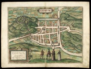 birds-eye view of Edinburgh from 1682
