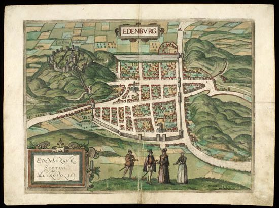 Map of the Month Edinburgh in 1582 National Library of Scotland Blog