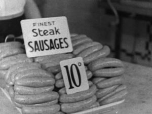 Sausages in a shop
