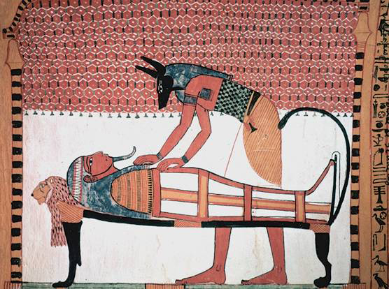 Picture of wall painting in the tomb of Sennedjem. This image was sourced from Wikicommons