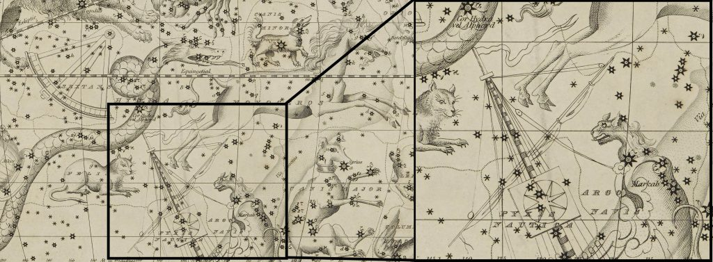 Extract of Argo Navis: Image taken from Celestial Atlas and modified (DOD ID: 125365899)