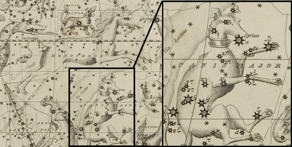 Extract of Canis Major: Image taken from Celestial Atlas and modified (DOD ID: 125365899)