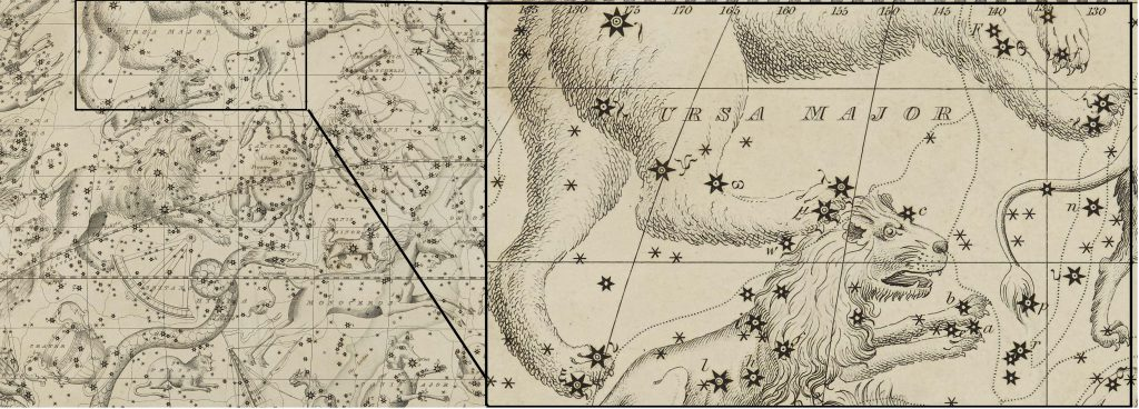 Extract of Ursa Major: Image taken from Celestial Atlas and modified (DOD ID: 125365899)