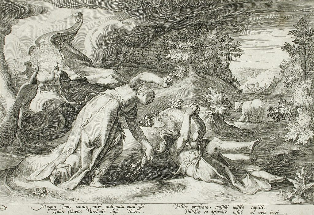 Image by Hedrik Goltzuis (1590) taken from Ovid's Metamorphoses. Public domain image sourced from Wikicommons