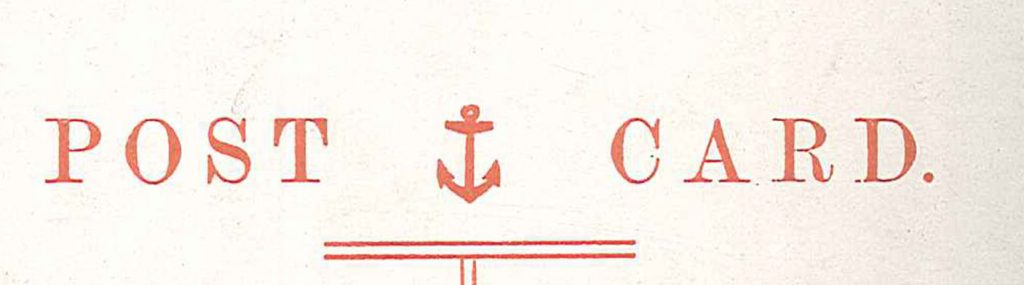 Example of the Iconic Postcard Red Anchor