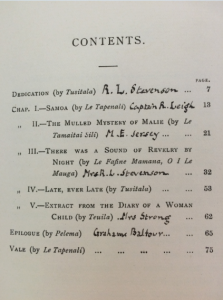 Contents page of 'An Object of Pity', identifying the authors