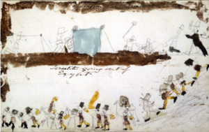 Aged 6, Stevenson provided the illustrations for his first story, 'The History of Moses'