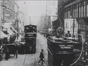 Trams in Sauchiehall Street
