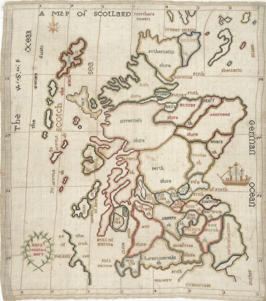 March\'s Map of the Month: A map of Scotland. [Stitched by] Margaret ...
