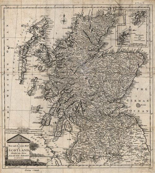 Image of William Palmer's map of Scotland, 1767