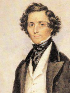 Portrait showing Felix Mendelssohn-Bartholdy
