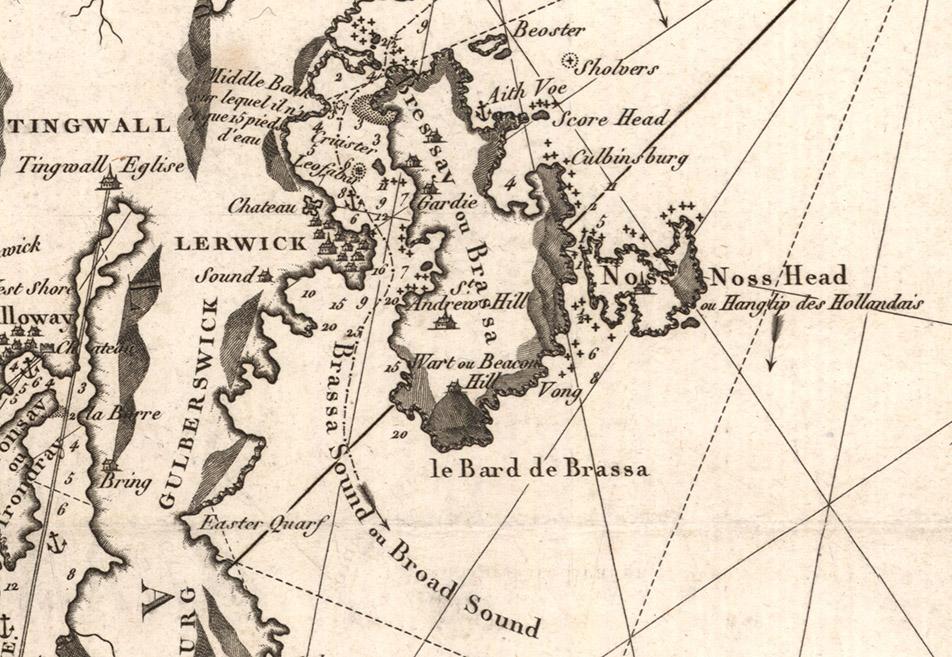 Depot Generale de la Marine, 'Carte des Iles Shetland', 1806