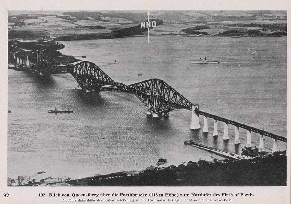 German Army, Blick von Queensferry uber die Forthbrucke... zum Nordufer des Firth of Forth, 1940