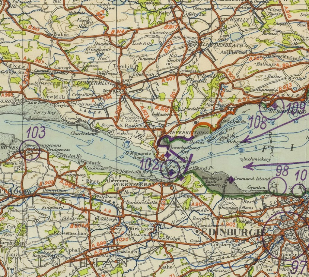 German Army, Landing Beaches, overprinted on OS Quarter-inch mapping, 1940