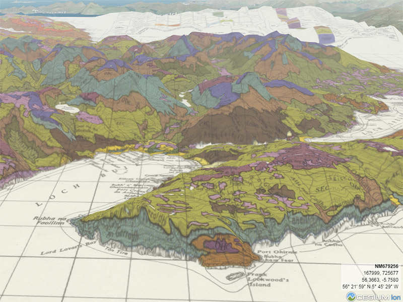 Soil map of Mull, 1972, in the 3D viewer