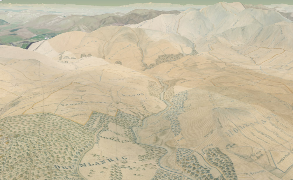 3d Terrain Map Of Uk.Scotland From Above Our 3d Map Viewer With New Vertical