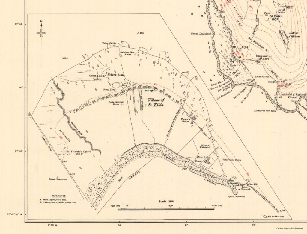 map of the village of St Kilda, 1928
