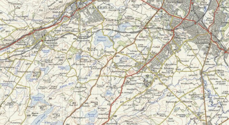 Map of East Renfrewshire