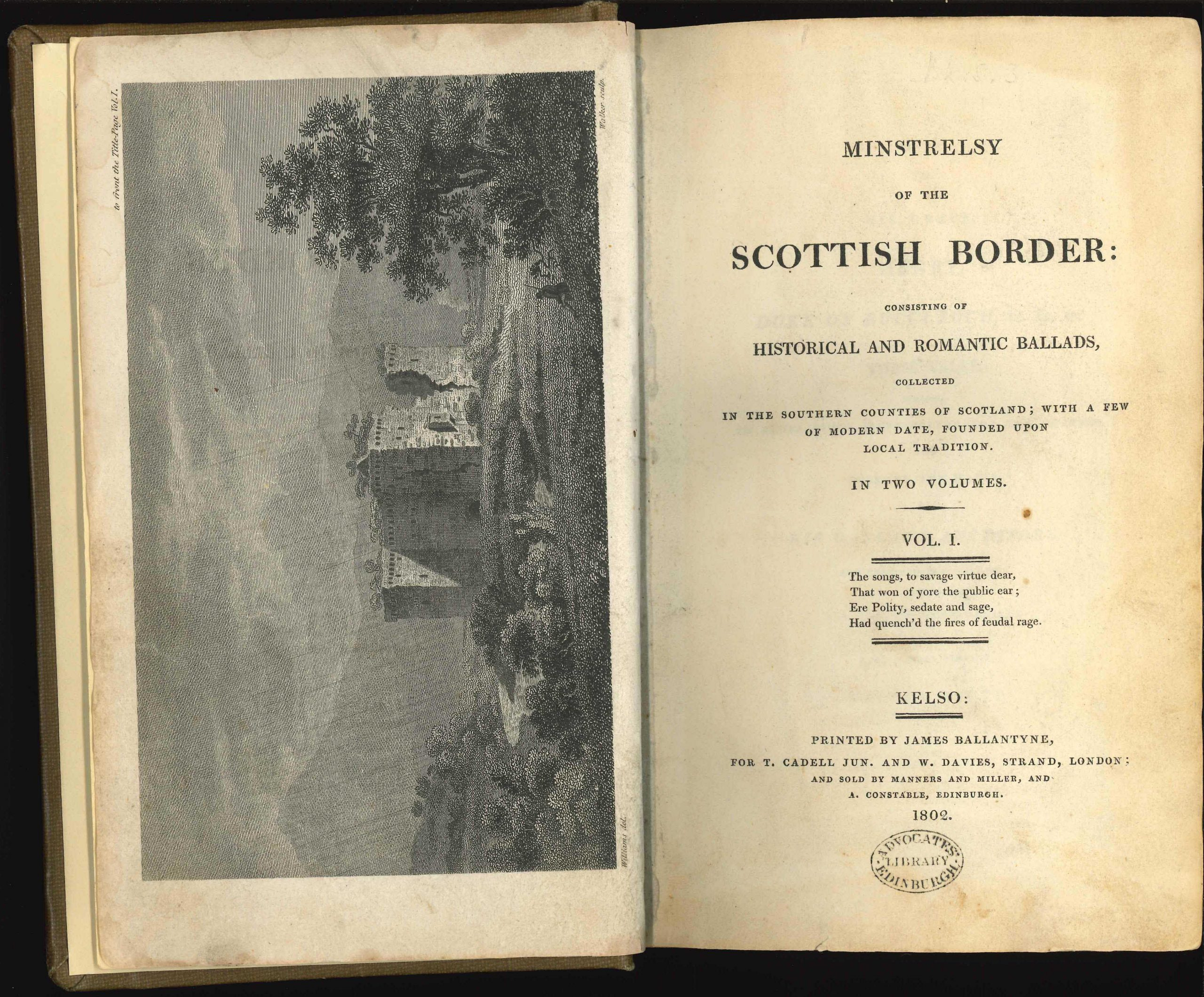 First edition of Minstrelsy