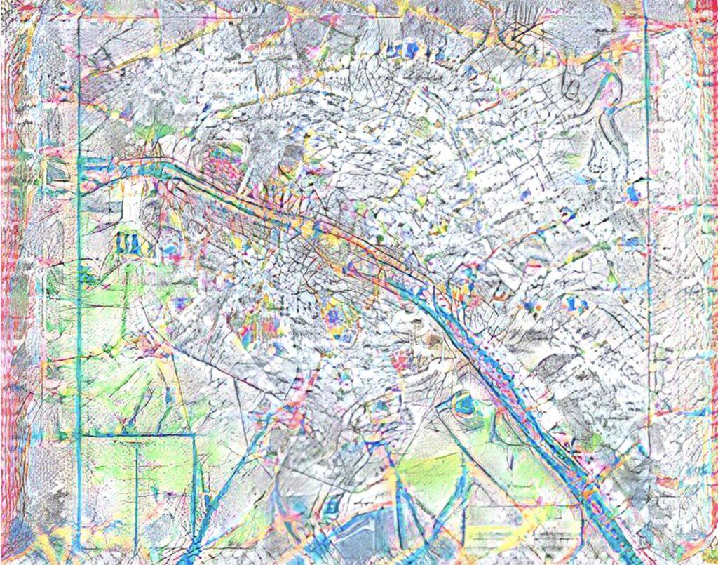 Representation of Paris from the project Passé (dé)généré / (De)generated past by Marion Carré. Copyright of the author